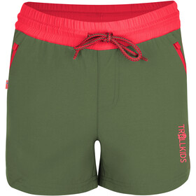 TROLLKIDS Arendal Shorts Niñas, olive/coral